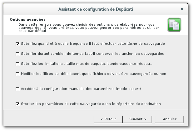 Assistant de configuration de Duplicati_008